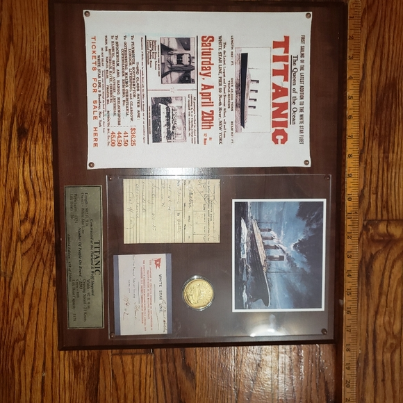 None Other - Titanic Collector's Wall Art Plaque